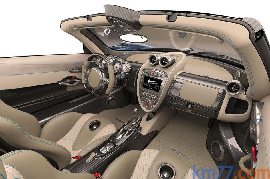 Aspecto interior del Pagani Huayra Roadster