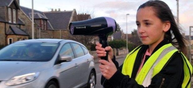 Un secador de pelon contra el exceso de velocidad