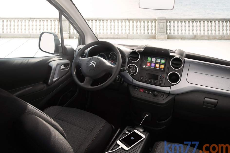 Aspecto interior del Citroën E-Berlingo Multispace