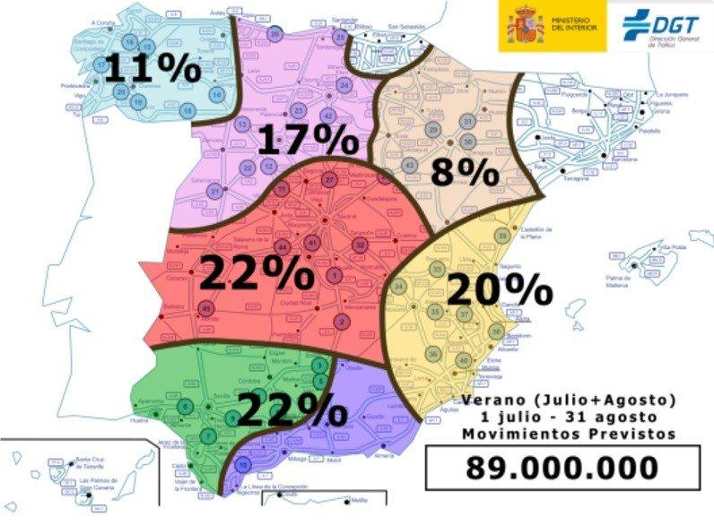 Mapa DGT