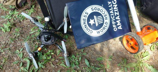 Imagen del dron que ha batido el récord Guinness de velocidad