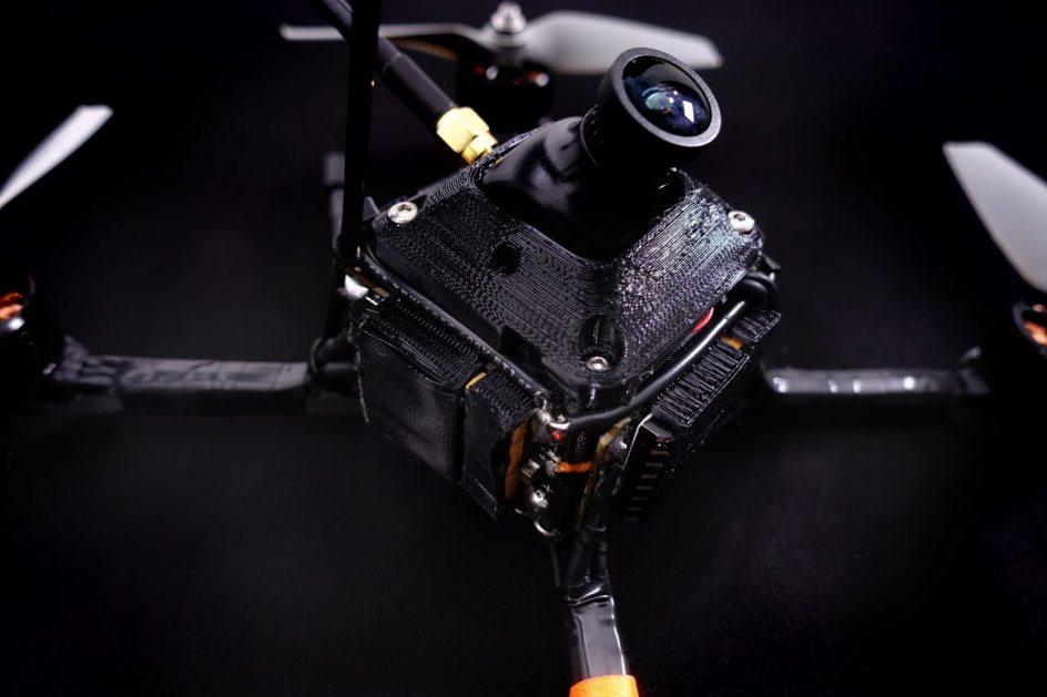 Ubicación de la cámara en el dron