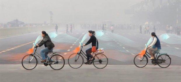 Desarrollo de unas bicicletas que purifican el aire