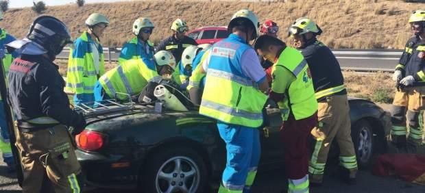 Accidente de tráfico en la M50
