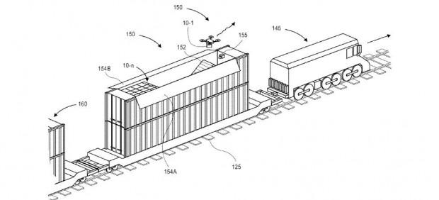 Patente de Amazon para plataforma de entrega con drones