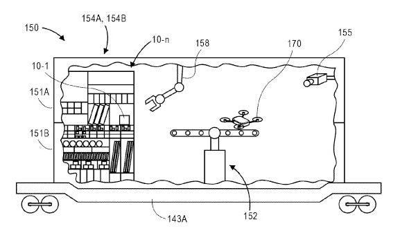Sistema robotizado para entrega de paquetes con drones en Amazon