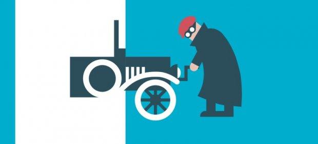 Ilustración sobre un coche antiguo